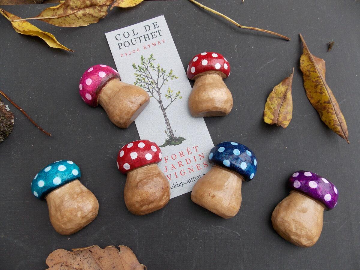 magnets champignon coloré
